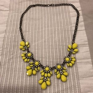 NWOT Dark Gray/Black and Yellow Statement Necklace